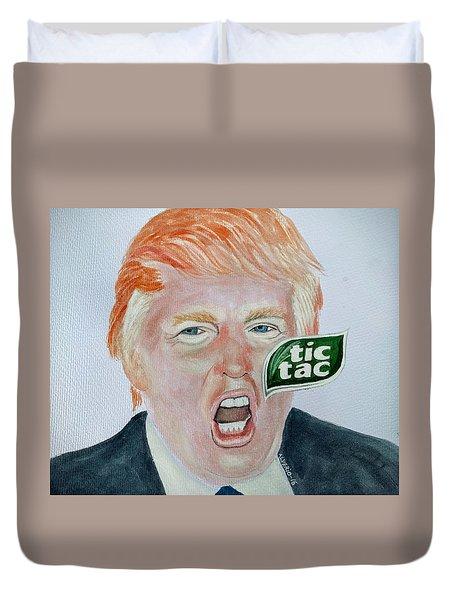 Tic Tac Trump Duvet Cover