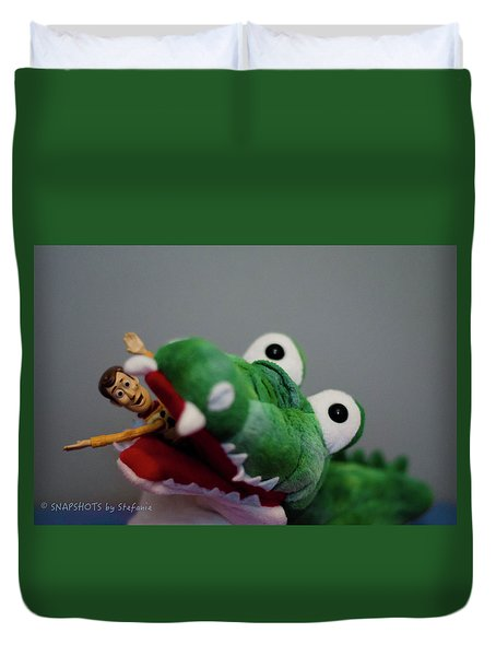 Tick Tock Crock Duvet Cover