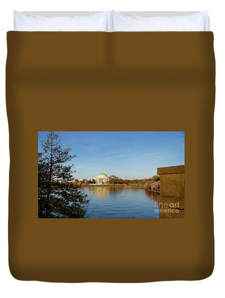 Tidal Basin And Jefferson Memorial Duvet Cover