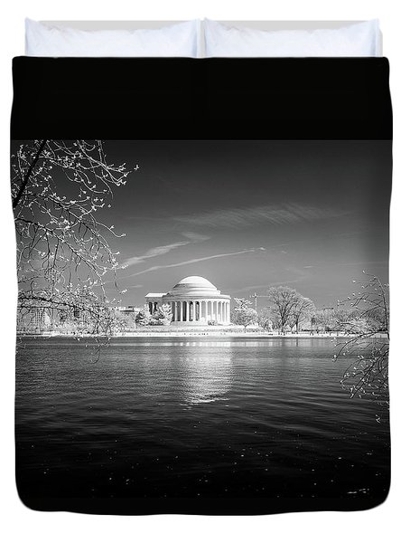 Tidal Basin Jefferson Memorial Duvet Cover