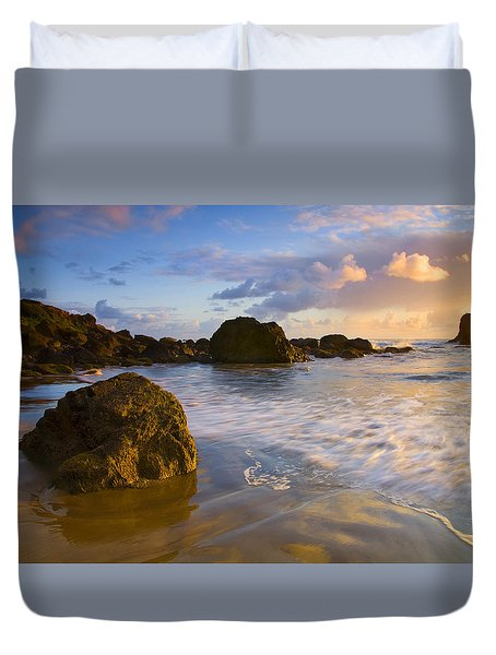 Tidal Flow Duvet Cover by Mike  Dawson