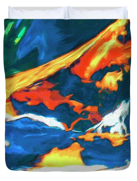 Duvet Cover featuring the painting Tidal Forces by Dominic Piperata