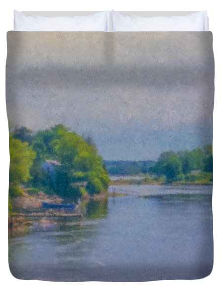Tidal Inlet In Southern Maine Duvet Cover