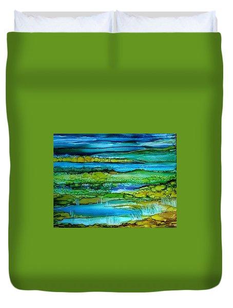 Tidal Pools Duvet Cover
