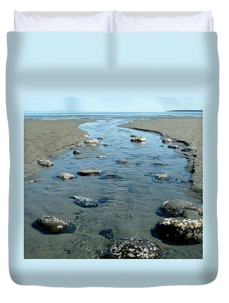 Duvet Cover featuring the photograph Tidal Pools by 'REA' Gallery
