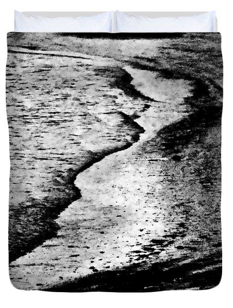 Tidal Wave Reaching For The Shoreline Duvet Cover by Carol F Austin
