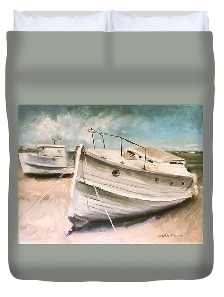 Tide Is Out Duvet Cover