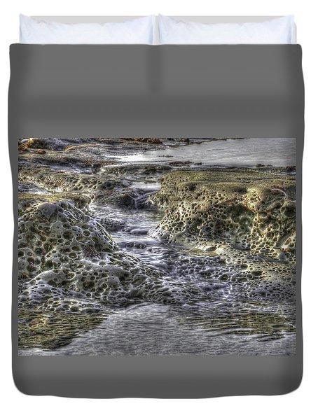 Tide Pool Waterfall Duvet Cover