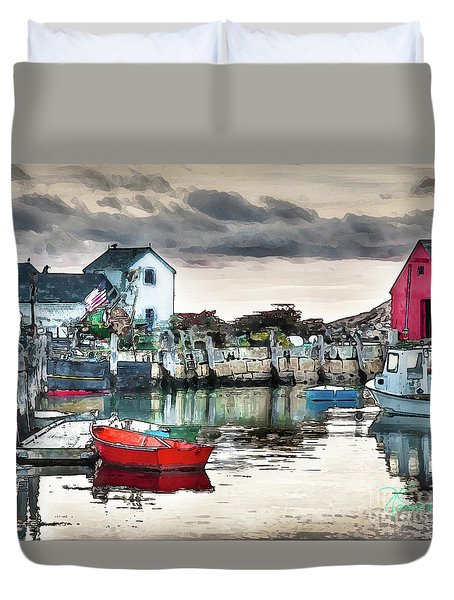 Tide's Out Duvet Cover by Tom Cameron