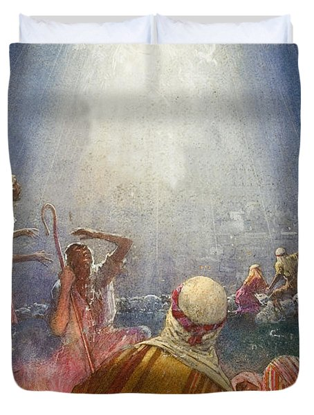 Tidings Of Great Joy Duvet Cover by John Millar Watt