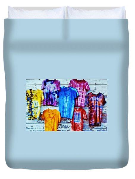 Duvet Cover featuring the photograph Grateful Dead Tie Dye by Susan Carella