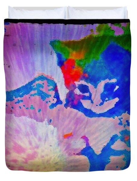 Tie Dye Tiger Duvet Cover