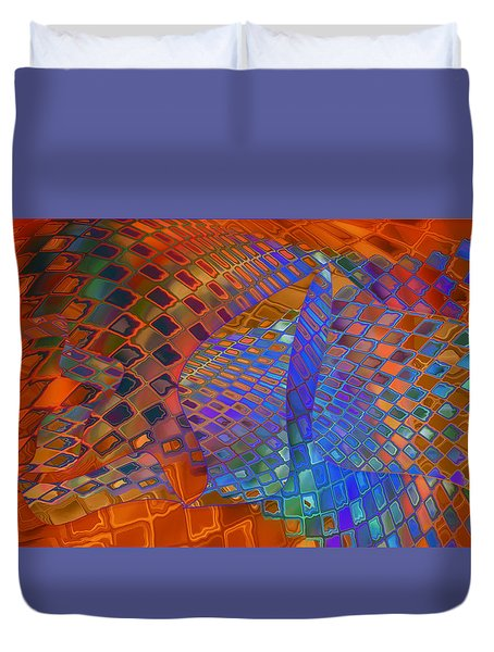 Tie Sposition Duvet Cover by Constance Krejci