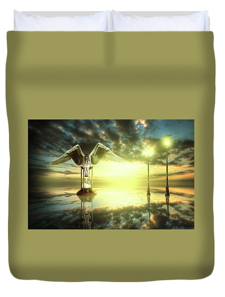 Time To Reflect Duvet Cover by Nathan Wright