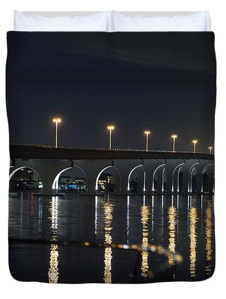 Tierra Verde Bridge Duvet Cover