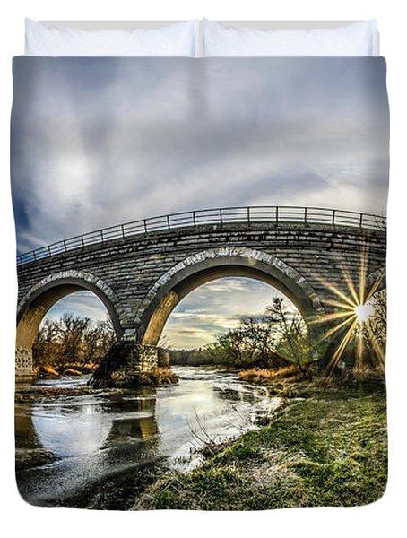 Tiffany Bridge Panorama Duvet Cover