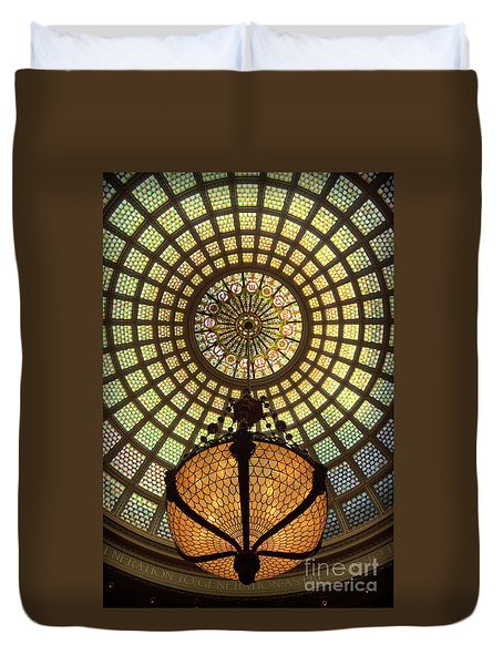 Tiffany Ceiling In The Chicago Cultural Center Duvet Cover