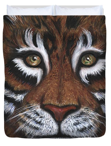 Duvet Cover featuring the painting The Hunt by Alga Washington