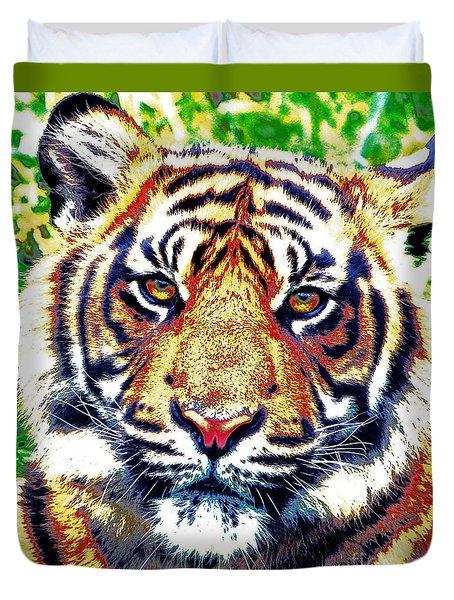 Tiger Art Duvet Cover