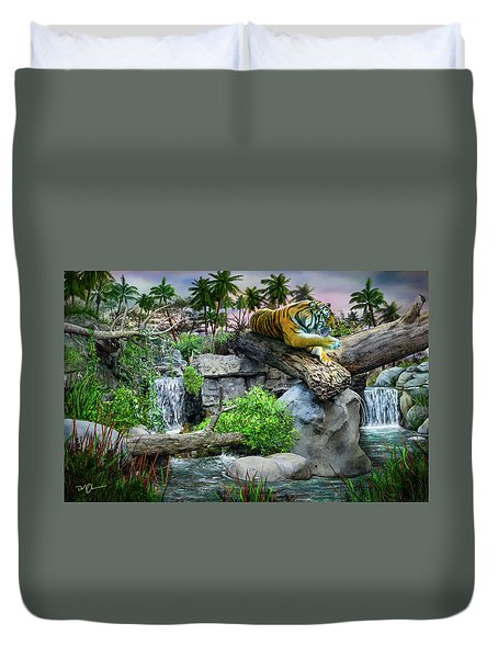Tiger At Dusk Duvet Cover