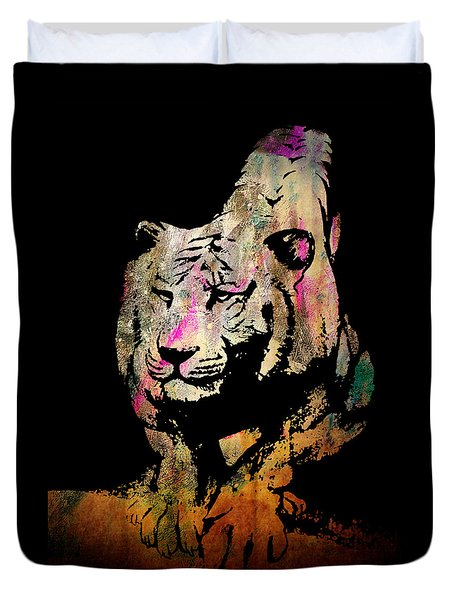 Tiger Collage #1 Duvet Cover