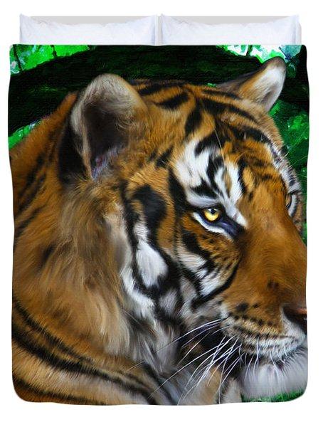 Tiger Contemplation Duvet Cover