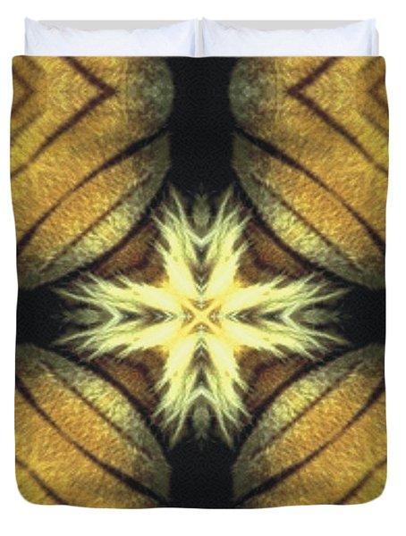 Tiger Cross Duvet Cover by Maria Watt