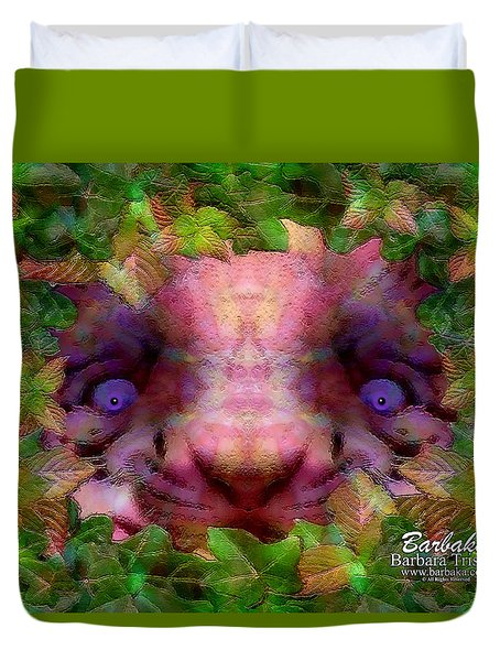 Duvet Cover featuring the photograph Tiger Cub by Barbara Tristan