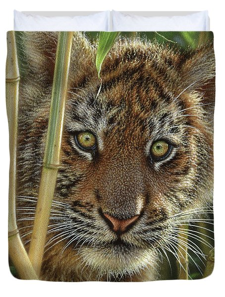 Tiger Cub - Discovery Duvet Cover