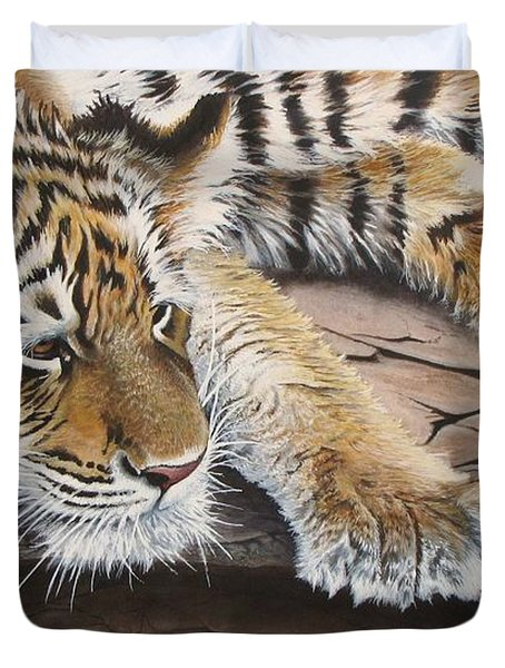 Tiger Cub Duvet Cover
