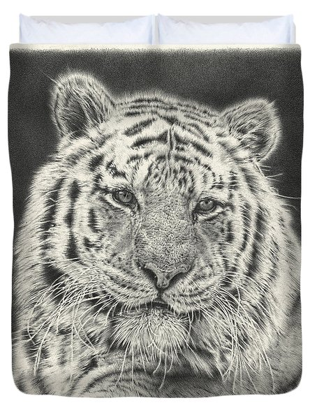Tiger Drawing Duvet Cover