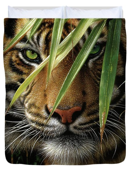 Tiger - Emerald Forest Duvet Cover