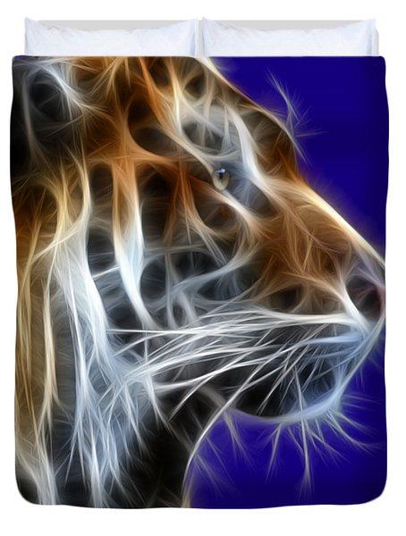 Tiger Fractal 2 Duvet Cover