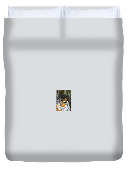 Duvet Cover featuring the painting Tiger by Jack G  Brauer