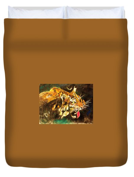 Tiger Duvet Cover by Khalid Saeed