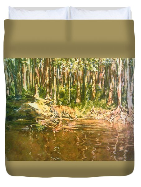 Tiger Lake Duvet Cover