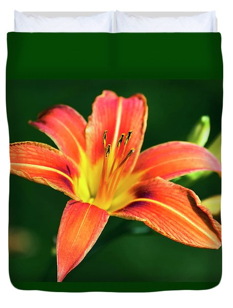 Duvet Cover featuring the photograph Tiger Lily by Christina Rollo