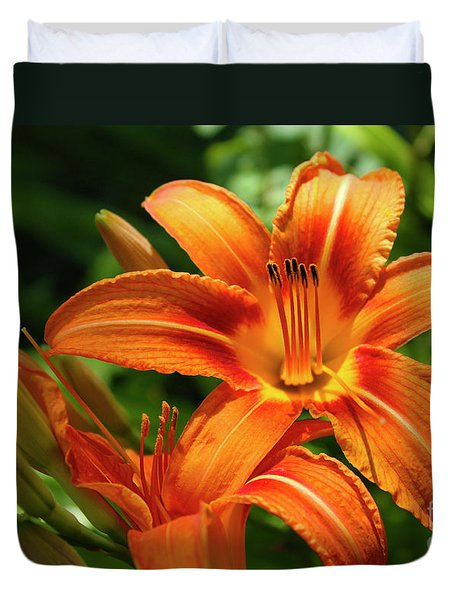 Tiger Lily Explosion Duvet Cover