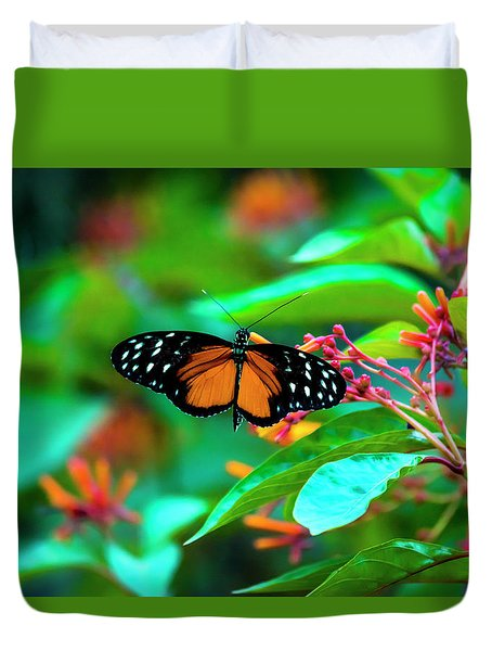Tiger Longwing Butterfly Duvet Cover