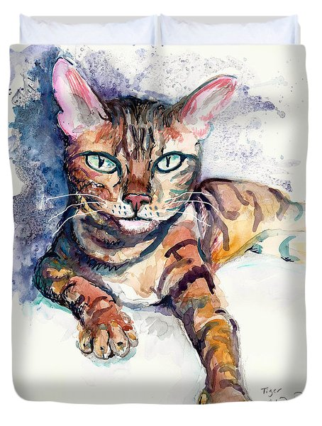 Tiger Duvet Cover by Melinda Dare Benfield