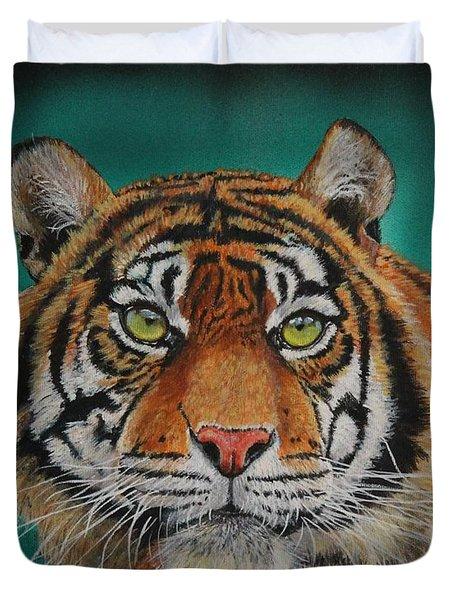 Tiger Portrait......amur Tiger Duvet Cover