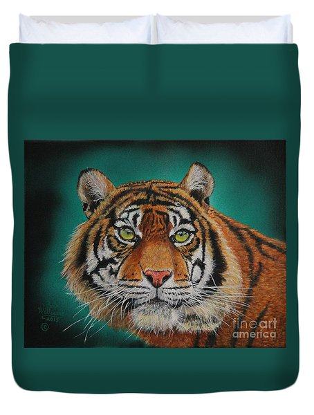 Tiger Portrait......amur Tiger Duvet Cover