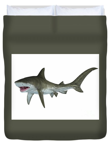 Tiger Shark Attack Posture Duvet Cover
