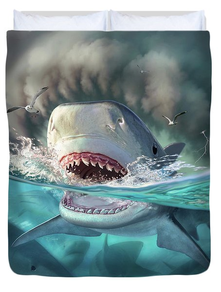 Tiger Sharks Duvet Cover