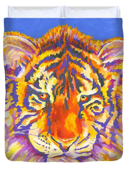 Duvet Cover featuring the painting Tiger by Stephen Anderson
