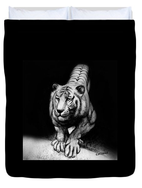 Tiger Study Duvet Cover by Kim Gauge