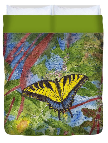 Tiger Swallowtail Watercolor Batik On Rice Paper Duvet Cover