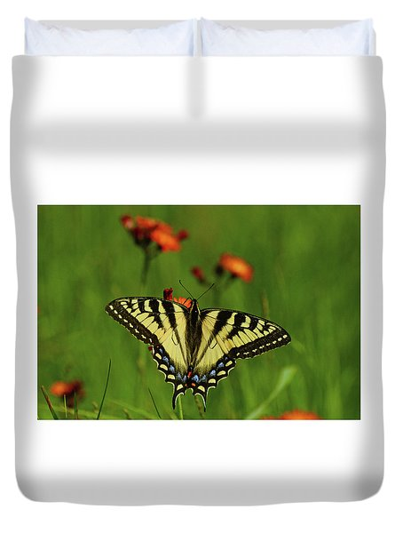Tiger Swallowtail Butterfly Duvet Cover