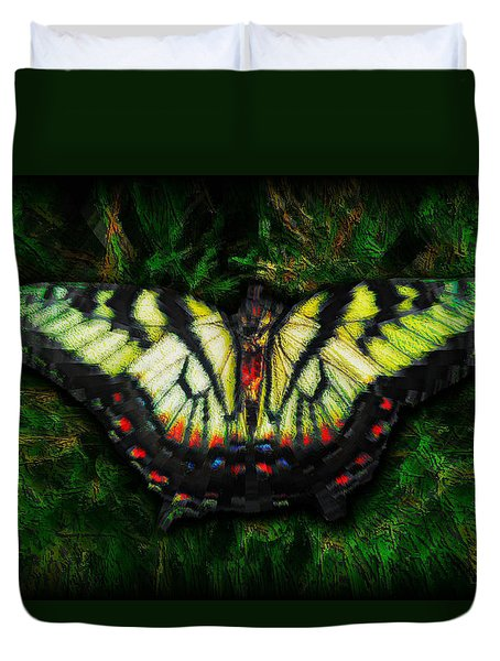 Tiger Swallowtail Duvet Cover by Iowan Stone-Flowers