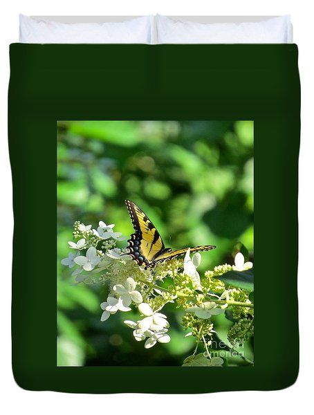 Tiger Swallowtail  Duvet Cover by Nancy Patterson